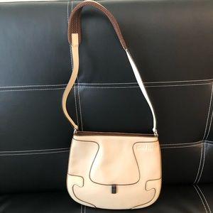 Authentic vintage Miu Miu leather mesh beige bag